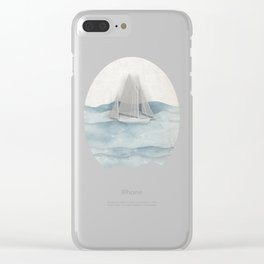Floating Ship Clear iPhone Case