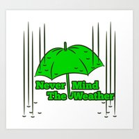 umbrella Art Prints featuring Umbrella by mailboxdisco