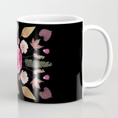 BOTANICAL COLLAGE N1 BLACK BACKGROUND Mug