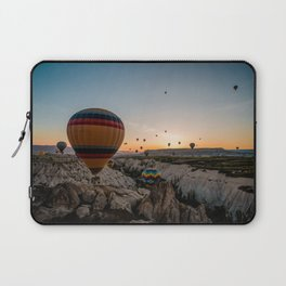 AERIAL PHOTOGRAPHY OF HOT AIR BALLONS Laptop Sleeve