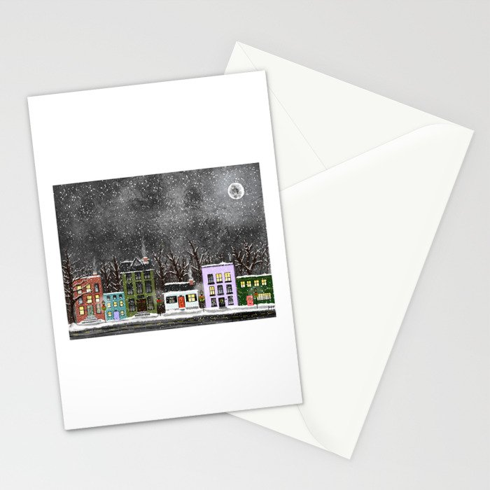 A Snowy Night Stationery Cards