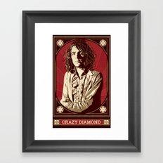Syd Barrett/Crazy Diamond Framed Art Print