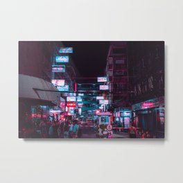 Neon signs / Bladerunner Vibes / Bangkok Metal Print