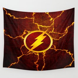 Flash With Lightning Wall Tapestry