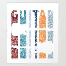 Vintage Guitar Art Print