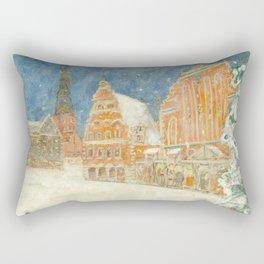 Merry Christmas Rīga Rectangular Pillow