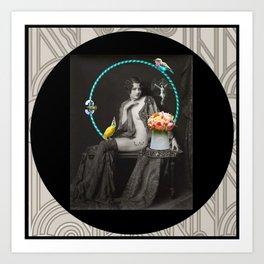 The Hoop Fairy & The Clown Canary Art Print