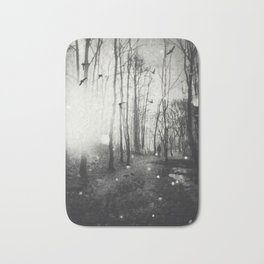 White Lights in the Forest Bath Mat