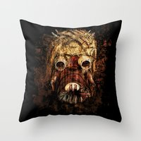 tomb raider Throw Pillows featuring Tusken Raider by Sirenphotos