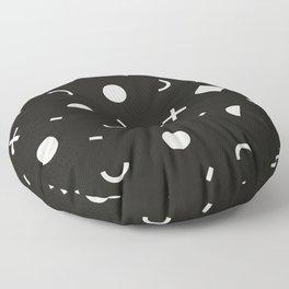 Black & White Memphis Pattern Floor Pillow