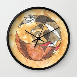 Aesop's Fables - The Cat And The Hen Wall Clock