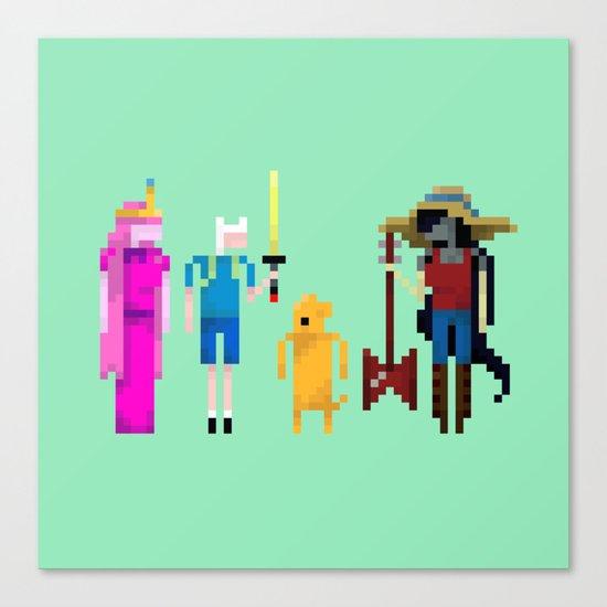 Adventure Time Gang Canvas Print