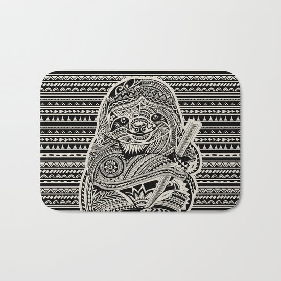 Polynesian Sloth Bath Mat