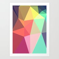 geo Art Prints featuring peace by contemporary