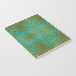 Turquoise lace Notebook