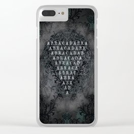 Abracadabra Reversed Pyramid in Charcoal Black Clear iPhone Case