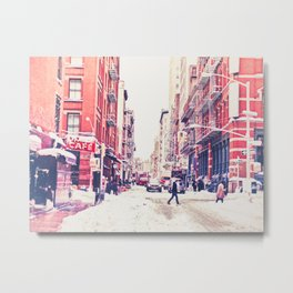 New York City Snow Soho Metal Print