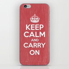 Keep Calm and Carry On - Red Book iPhone & iPod Skin