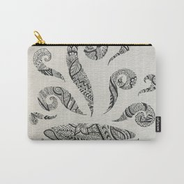 But first, Tea - tea coffee lover zentangle Carry-All Pouch
