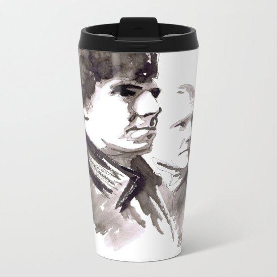Sherlock and Watson Metal Travel Mug
