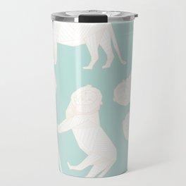 African Animals - Lion Green Travel Mug