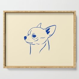 Chihuahua (Beige and Blue) Serving Tray