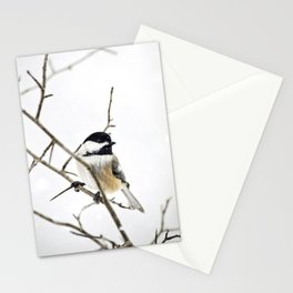 Snowy Chickadee Stationery Cards
