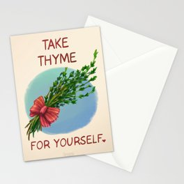 Take Thyme for yourself Stationery Cards