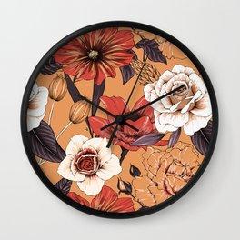 Modern Botanical No. 2 Wall Clock