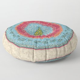 Growing - Hoya - plant cell embroidery Floor Pillow