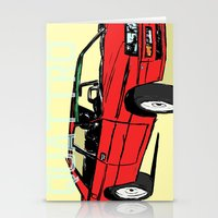 audi Stationery Cards featuring AUDI QUATTRO BRITISH EDITION 20V RED and BEIGE by Егор Шиянов