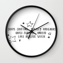 Lake Monster Witch (gender) Wall Clock