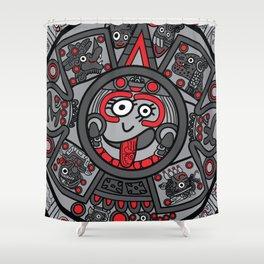 Mexicanitos al grito - Calendarito Azteca Shower Curtain