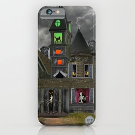 Halloween Haunted Mansion iPhone Case