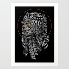 Barbarian Lion Art Print