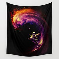motivational Wall Tapestries featuring Space Surfing by nicebleed