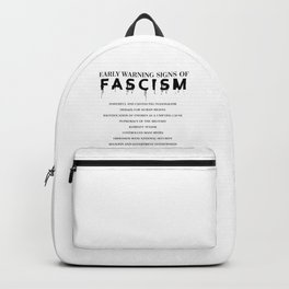 Early Warning Signs of Fascism Backpack