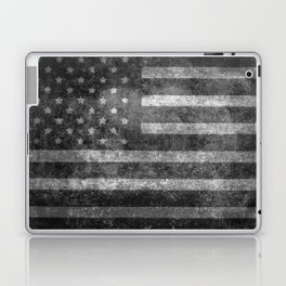 Black and White USA Flag in Grunge Laptop & iPad Skin