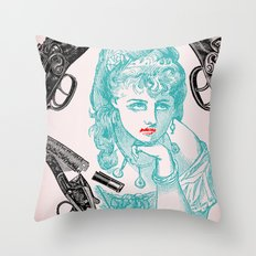 Dainty/Deadly Throw Pillow