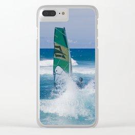 Hookipa Windsurfing North Shore Maui Hawaii Clear iPhone Case