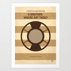 No055 My O Brother Where Art Thou minimal movie poster Art Print