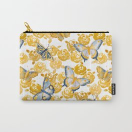 Butterflies 'n Roses Carry-All Pouch