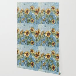 Watercolor Sunflowers,Watercolor Batik, Sunflower Art,Sunflower Flower Wallpaper