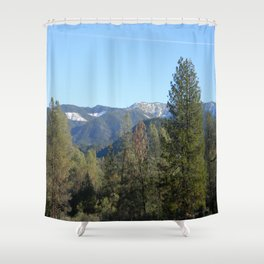 Winter time in Hayfork, California... Shower Curtain