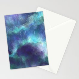 Abstract Painting - Space Nebula Storm Clouds Aurora Borealis Stationery Cards