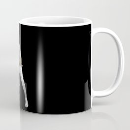 Christmas Ninja Black and White Coffee Mug