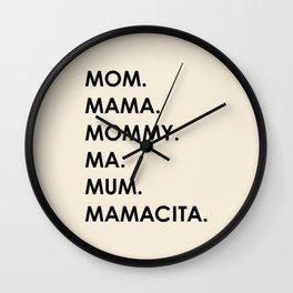 MOM black Wall Clock