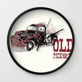 Old pickup Wall Clock