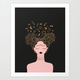 space buns Art Print