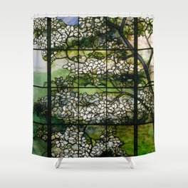 Louis Comfort Tiffany - Decorative stained glass 2. Shower Curtain